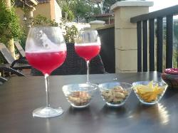 cocktails on the terrace