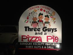Three Guys and a Pizza Pie