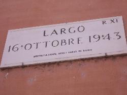 ghetto ebraico - largo 16 ottobre 1943 data del rastrellamento