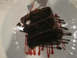 Triple layer chocolate cake-who doesn't love chocolate?