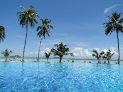 Vista na piscina