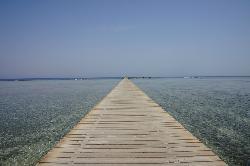 The boardwalk on the beach