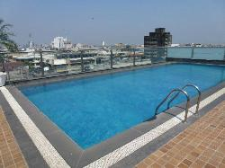 small rooftop pool
