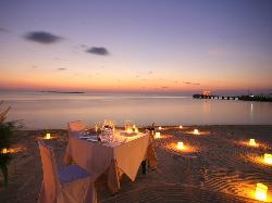 Sunset dining on the beach is a treat everyone deserves.
