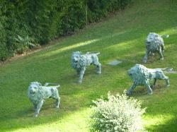 The 'Lion Garden' below our balcony
