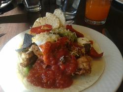 Open Face Burrito or Taco Salad?? Taco Salad! Devoured!