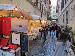 """Via Margutta -- """"100 Painters of Via Margutta"""" art fest Nov 2012"""