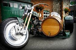 The Hogs Back Brewery - Beer Engine (Bike and Barrel side car).