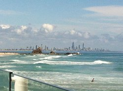 Surfers Paradise view from Currumbin Vikings SLSC