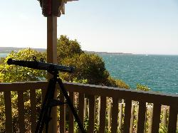 View from the gazebo with free use of a telescope