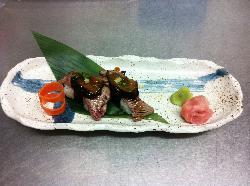 Beef Fillet with Japanese Shitake Mushroom Sushi with teriyaki sauce