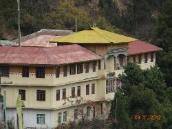 View from balcony-the Lachen Monastry