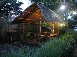 library hut at dawn