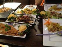 delicious food at tha restaurant