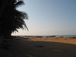 The beach in the morning