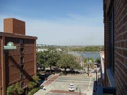 View of Savannah River from our room balcony
