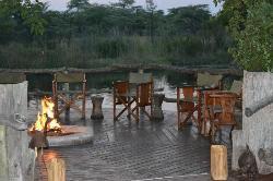 le boma au bord de la rivière Kwando