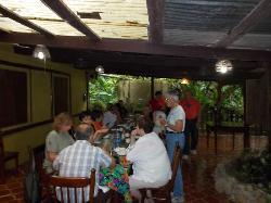 Group enjoying fellowship at meal time