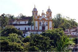 Matriz de Santo Antonio vista pela Igreja São Francisco de Paula