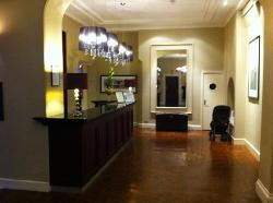The very welcoming reception area