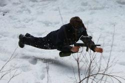 paintball in the snow