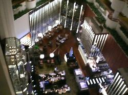 Overlooking dining area from top