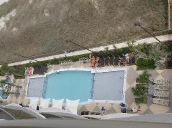 Great view of pool from balcony