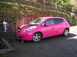 Electric car being charged with our charger