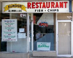 Allencourt Restaurant Fish