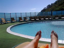 Most beautifully situated pool - literally on the rocks overlooking the ocean