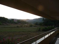 sunrise from hotel varanda