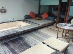 deck of water villa