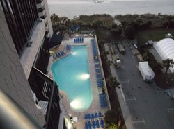 view of pool from room