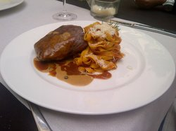 (tough) beef fillet and (delicious) tagliatelle