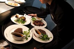 Steak & Co peppered steaks