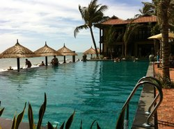 Pool beach side