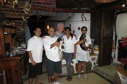Staff with Pepe