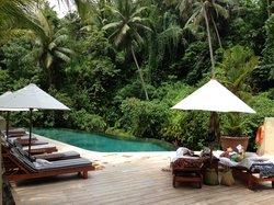 zeer rustig zwembad