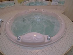 2 person hot tub in King Suites