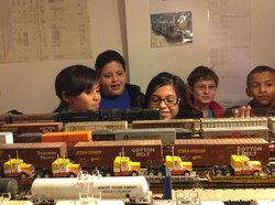 Dos Rios Elementary field trip to the Greeley Freight Station Museum.  Watchin