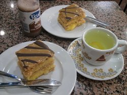 Lemon tea and millefeuille