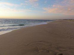 pacific ocean and white sand beach