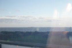 very choppy seas,glad i was inside