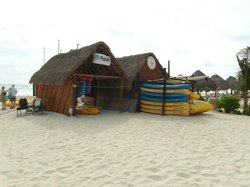 Watersports centre on the beach