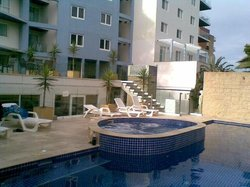 the swimming pool and spa area