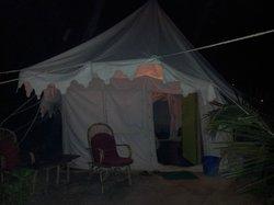 Blick aufs Zelt