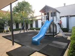 kids play area located outside restaurant