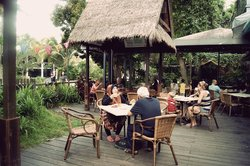 Siloso Cafe outdoor dining area...