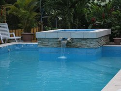 Jacuzzi by the pool