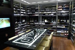 Wine room at Ming Court
